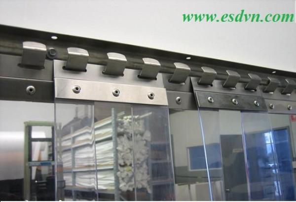 Bộ màn nhựa pvc màu trong và bát treo Inox 304