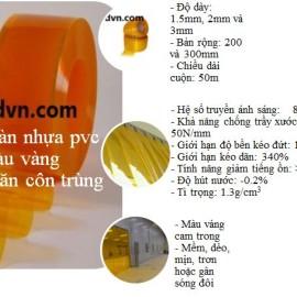 tấm nhựa màu vàng ngăn côn trùng cho nhà xưởng